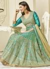 Gauhar Khan Embroidered Work Art Silk Long Length Anarkali Salwar Suit - 1