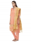 Embroidered Work Trendy Straight Suit - 1