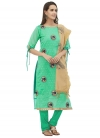 Embroidered Work Straight Salwar Suit - 1