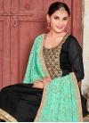 Art Silk Lace Work Trendy Churidar Salwar Kameez - 1