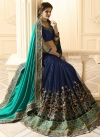Lace Work Net Half N Half Trendy Saree For Bridal - 1