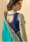 Lace Work Net Half N Half Trendy Saree For Bridal - 2