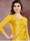 Chanderi Cotton Trendy Churidar Salwar Kameez For Ceremonial - 1