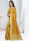 Art Silk Embroidered Work Designer Contemporary Style Saree - 1