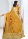 Art Silk Embroidered Work Designer Contemporary Style Saree - 2