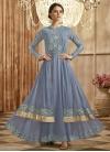 Faux Georgette Layered Designer Salwar Kameez - 1