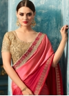 Hot Pink and Rose Pink Trendy Classic Saree - 1