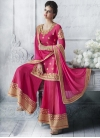 Innovative Tussar Silk Booti Work Palazzo Straight Salwar Kameez - 1