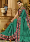 Art Silk Beads Work Trendy Classic Saree - 1