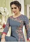 Faux Georgette Floor Length Anarkali Salwar Suit For Festival - 1