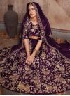 Crepe Velvet Trendy A Line Lehenga Choli - 1