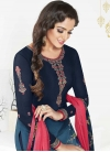 Crepe Silk Trendy Churidar Salwar Kameez - 1