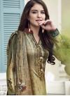 Satin Silk Pant Style Salwar Kameez - 1