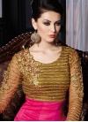 Extraordinary Sequins Work Silk Floor Length Wedding Salwar Suit - 1