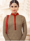 Faux Georgette Krystle Dsouza Pant Style Pakistani Salwar Kameez For Festival - 1