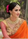 Stylish Beads Work Half N Half Trendy Saree For Bridal - 1