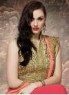 Fashionable Bamber Georgette Half N Half Wedding Saree - 1