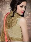 Fashionable Bamber Georgette Half N Half Wedding Saree - 2
