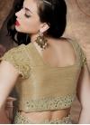Miraculous Beads And Mirror Work Half N Half Wedding Saree - 2
