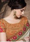 Absorbing Lace Work Silk Half N Half Designer Saree - 1