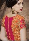 Absorbing Lace Work Silk Half N Half Designer Saree - 2