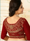 Tiptop Booti Work Net Crimson Traditional Designer Saree - 2