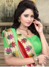 Compelling Red And Mint Green Color Party Wear Saree - 1