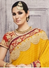 Radiant  Lace Work Trendy Designer Saree For Festival - 1