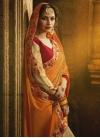 Beige and Orange Half N Half Trendy Saree For Ceremonial - 1