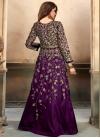Tafeta Silk Embroidered Work Long Length Anarkali Salwar Suit - 1