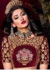 Luxurious Embroidered Work Velvet Trendy A Line Lehenga Choli - 2