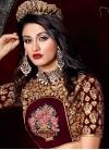 Luxurious Embroidered Work Velvet Trendy A Line Lehenga Choli - 1