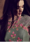 Embroidered Work Readymade Classic Gown For Festival - 2