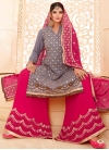 Faux Georgette Sharara Salwar Suit For Ceremonial - 1
