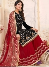 Black and Red Sharara Salwar Suit For Festival - 1