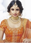 Bhagalpuri Silk A Line Lehenga Choli For Bridal - 1