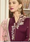 Gauhar Khan Embroidered Work Pakistani Straight Salwar Kameez - 1