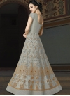 Net Embroidered Work Long Length Designer Anarkali Suit - 1