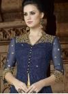 Booti Work Beige and Navy Blue Pant Style Designer Salwar Kameez - 1