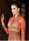 Beige and Red Designer Kameez Style Lehenga Choli - 2