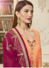 Gauhar Khan Embroidered Work Pakistani Straight Salwar Suit - 1