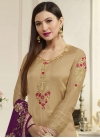 Gauhar Khan Embroidered Work Pakistani Straight Suit - 1