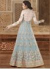Grey and Off White Embroidered Work Designer Kameez Style Lehenga Choli - 2