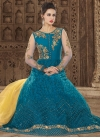 Net Trendy Anarkali Salwar Kameez For Festival - 1