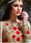 Attractive Embroidered Work Faux Georgette Long Length Anarkali Suit For Festival - 2