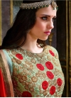 Attractive Embroidered Work Faux Georgette Long Length Anarkali Suit For Festival - 1
