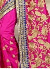 Luscious Embroidered Work Silk Contemporary Saree For Festival - 1