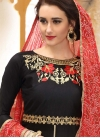 Embroidered Work Pant Style Salwar Kameez - 1