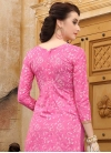 Cotton Hot Pink and Off White Embroidered Work Trendy Churidar Salwar Suit - 1