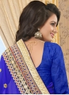 Faux Georgette Lace Work Contemporary Saree - 2